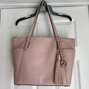 Blush/Light Pink Micheal Kors Tote with Tassel